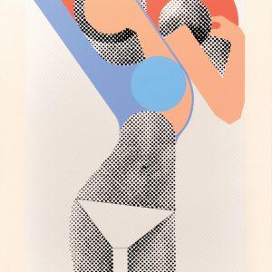 Gerald Laing - KM (Kate Moss)