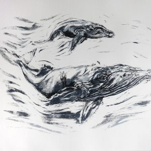 John Simpson - Humpback and Calf (for Sea Shepherd)