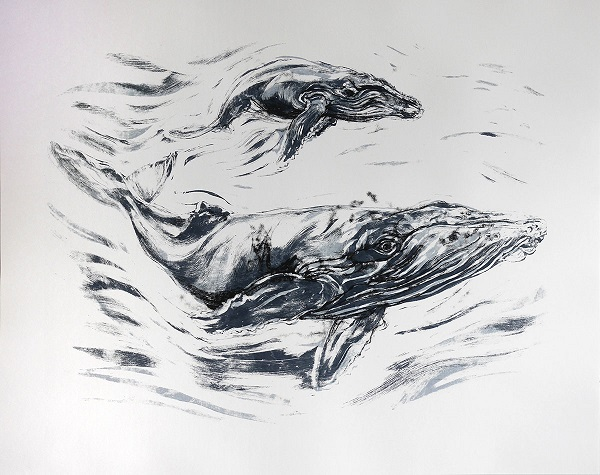 John Simpson - Humpback and Calf (for Sea Shepherd)